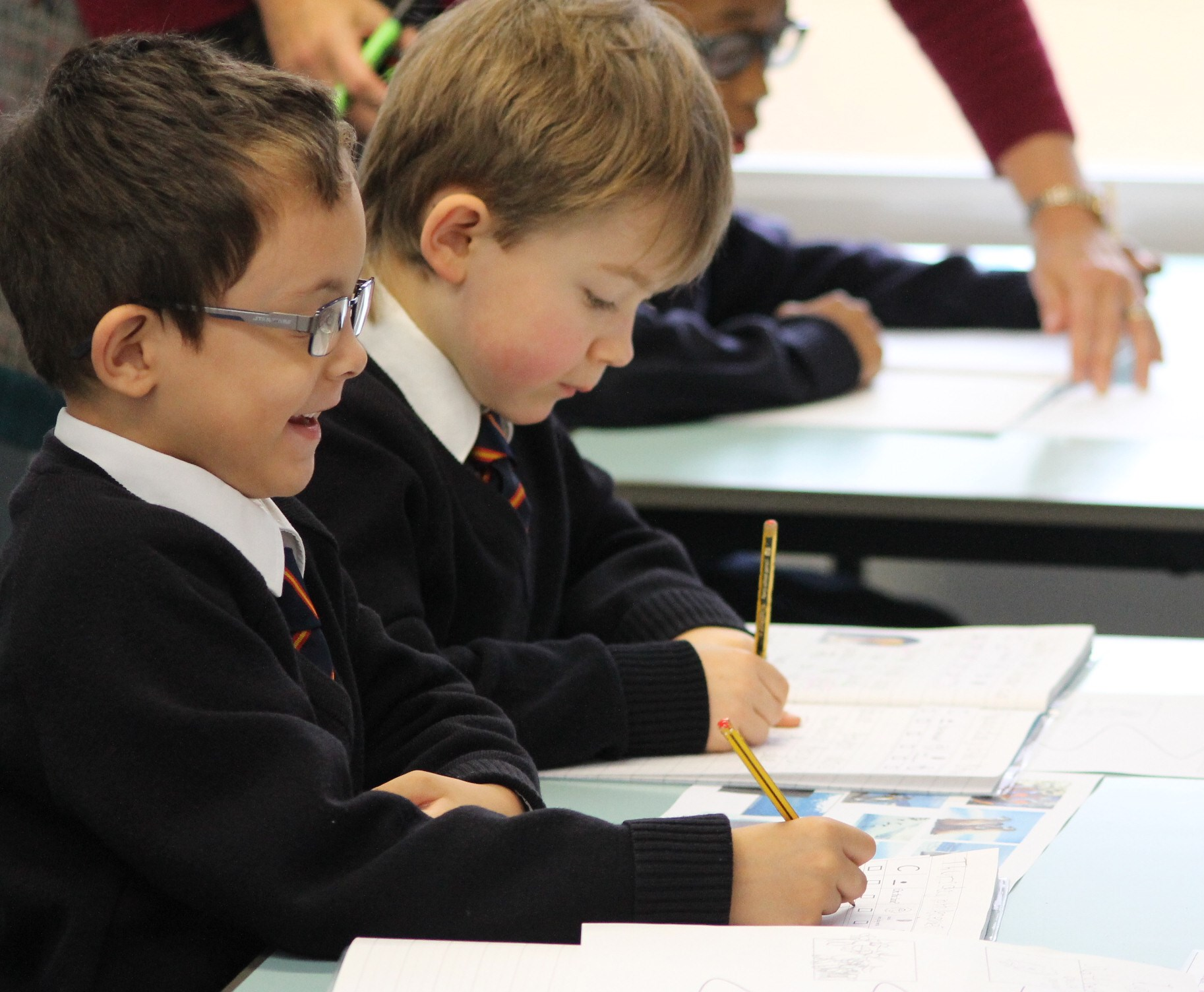 Pupils working St George's CE Primary
