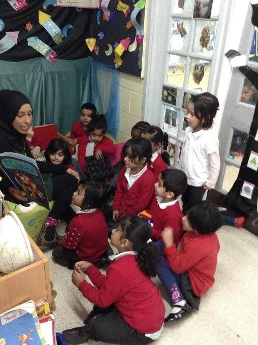 Activity with pupils Yew Tree Community School