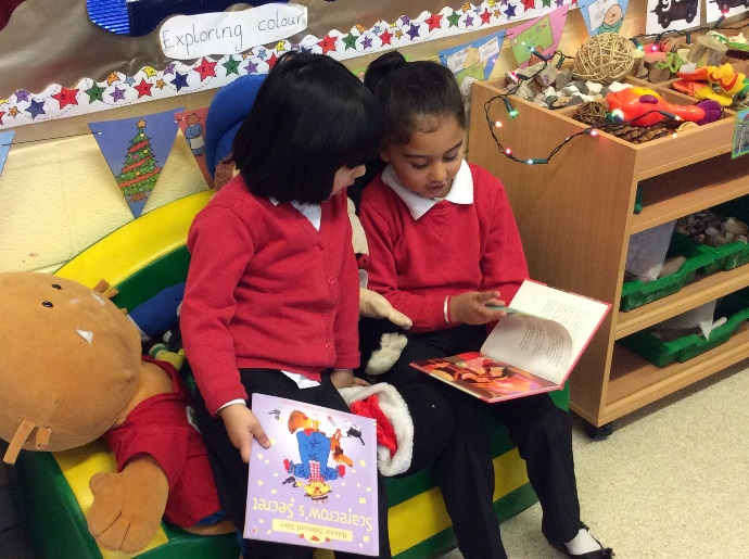 Talk for Writing Yew Tree pupils sharing book