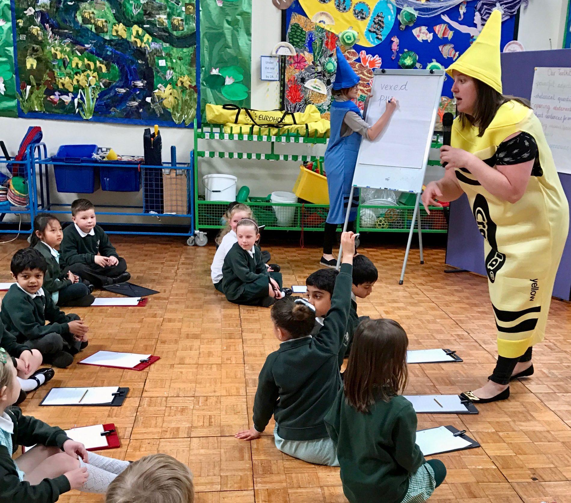 Reception storytelling Warren Road Primary School