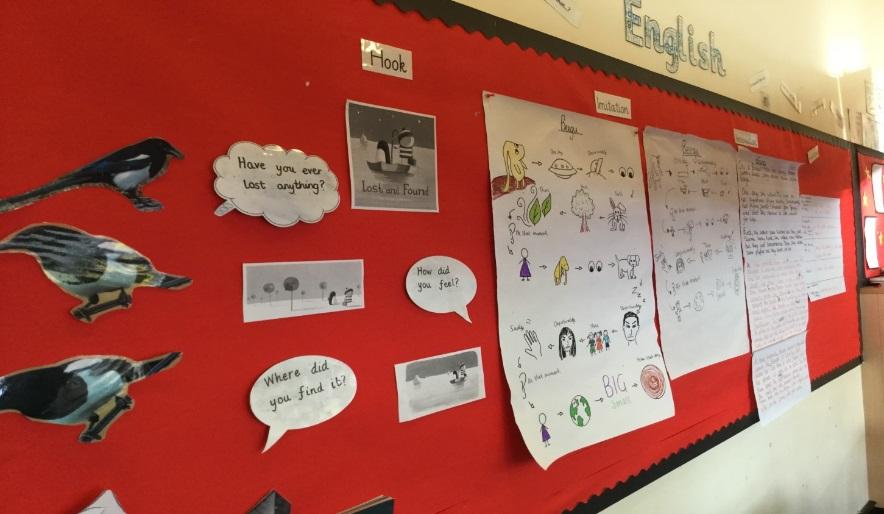Magpie display St Joseph's Catholic Primary School