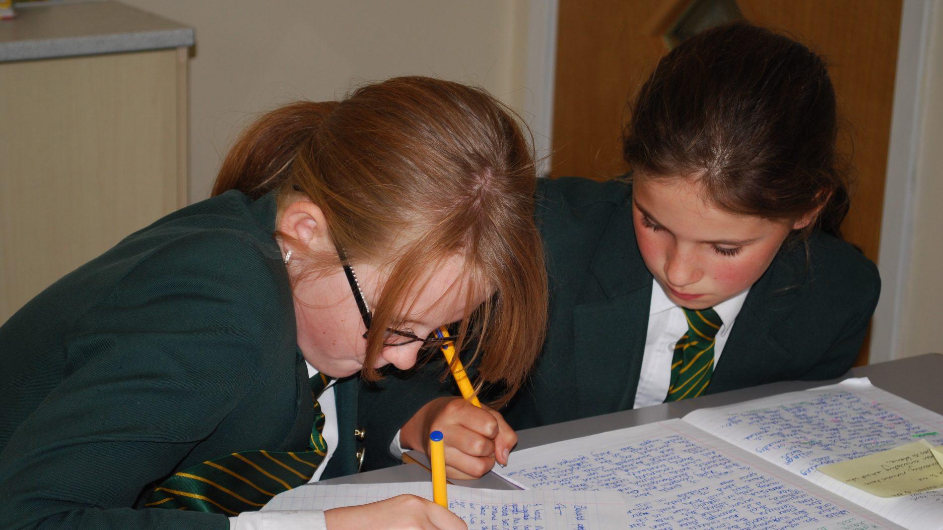 Pupils concentrating Dashwood Banbury Academy