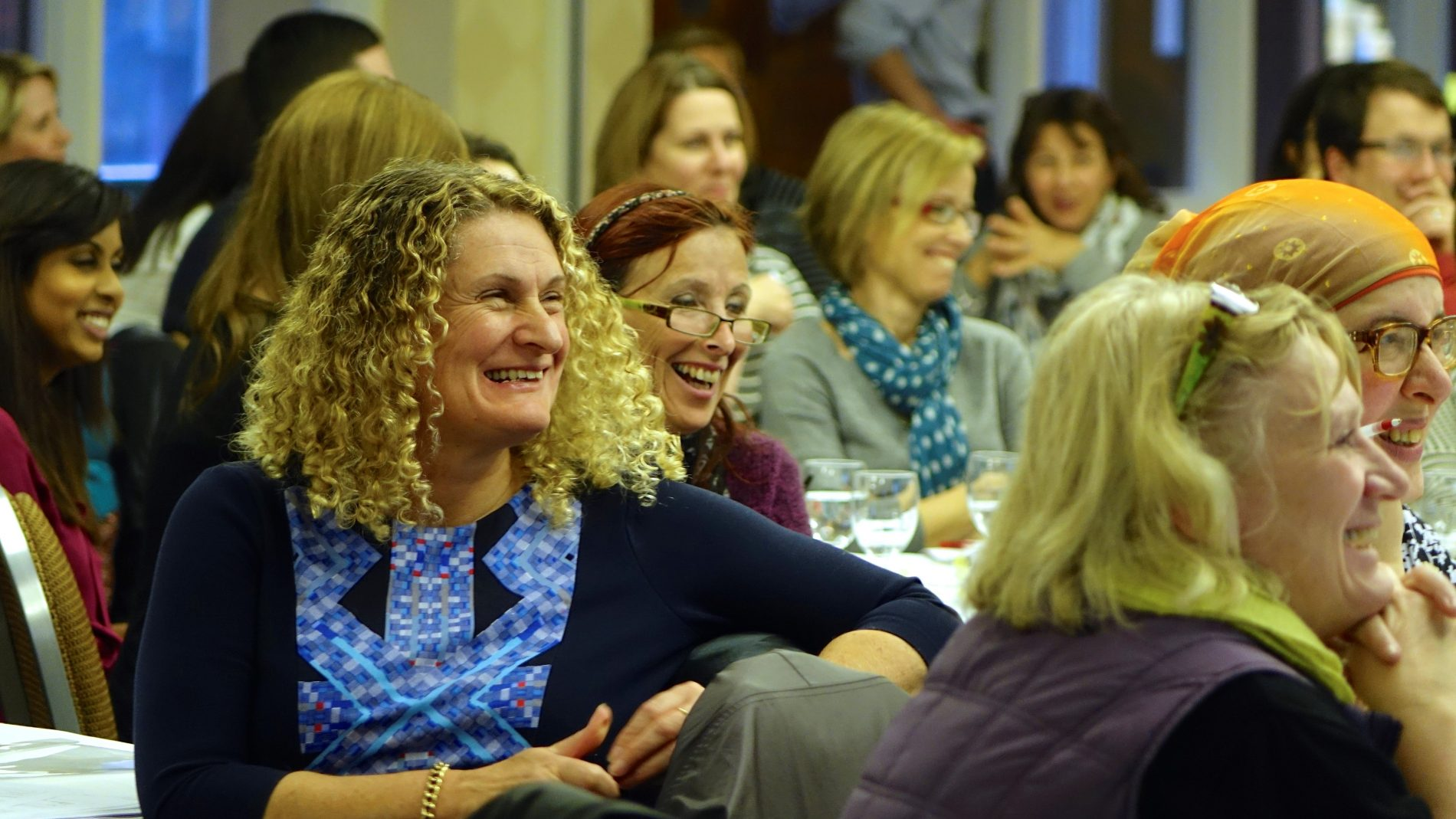 Delegates smiling at Talk for Writing conference